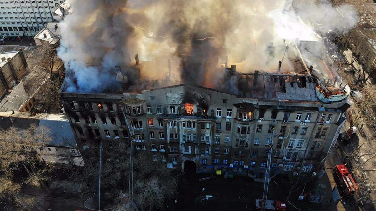 Студенти згорілого одеського коледжу відновлять навчання в інших корпусах