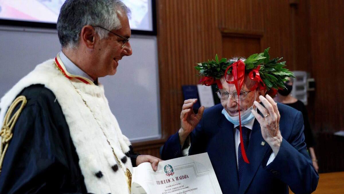 Итальянец закончил университет в почти 97 лет: детали и фото