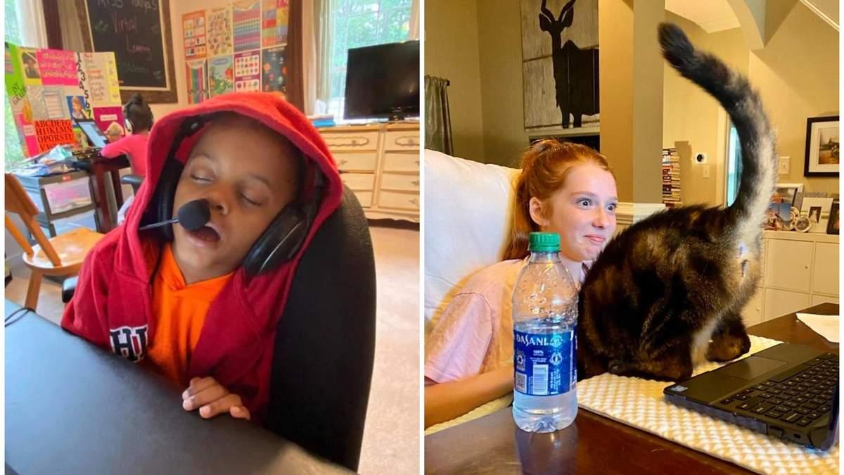 10 смешных фото о том, как тяжело детям дается дистанционное обучение