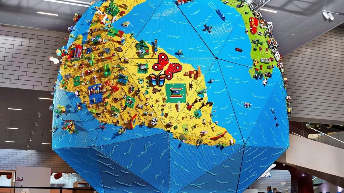 LEGO показали чотириметровий глобус, який створили діти: круті фото