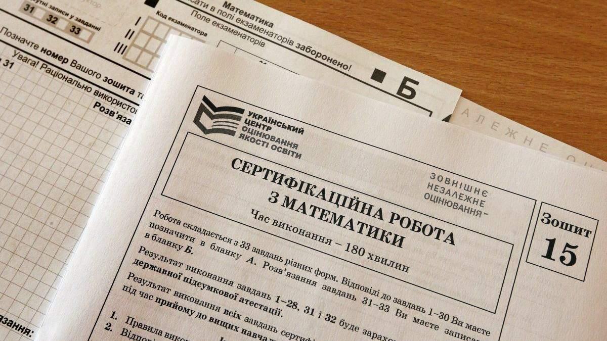 ВНО 2021 по математике: правильные ответы на тесты