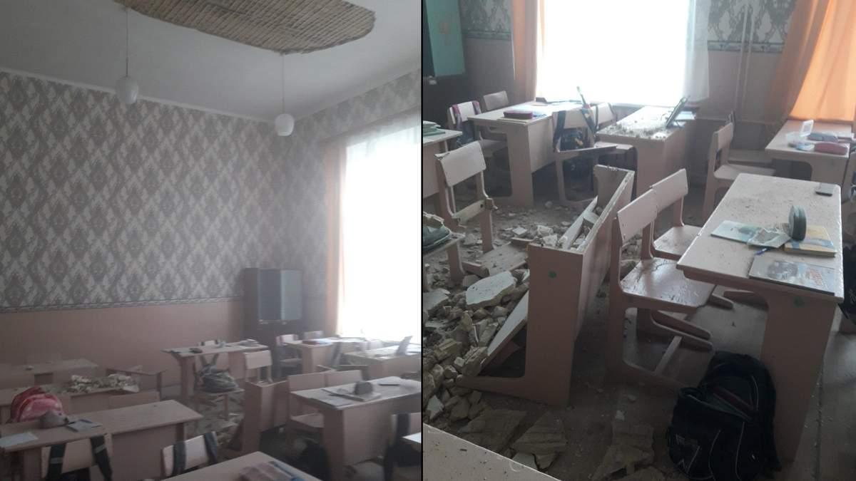 У класі однієї зі шкіл в Чернігівській області обвалилася стеля: фото - Новини Чернігова - Освіта
