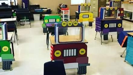 У США клас перетворили на автомагістраль з джипами, щоб створити між дітьми соціальну дистанцію
