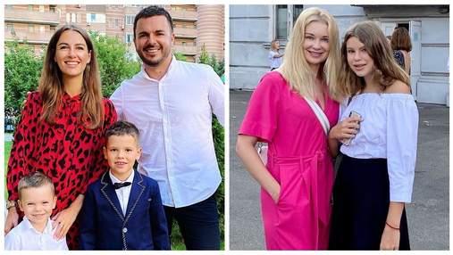 Тарас Тополя, Лідія Таран і Григорій Решетник: українські зірки ведуть дітей до школи – фото