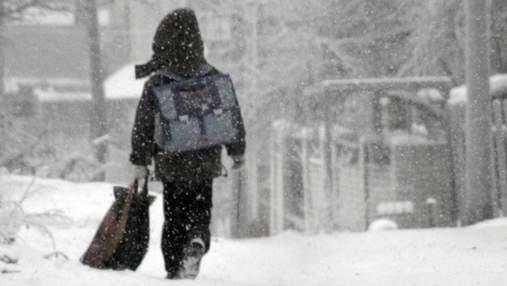В Ровно на два дня закрывают школы из-за большого количества снега