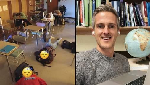 Все для учебы: школьники обожают уроки учителя, потому что он позволяет им спать за партами