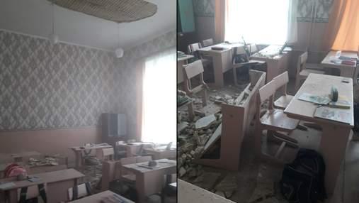 В классе одной из школ в Черниговской области обвалился потолок: фото